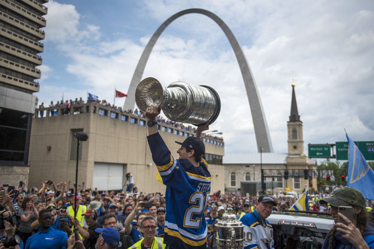 Quick Strikes St Louis Celebrates Their First Stanley Cup
