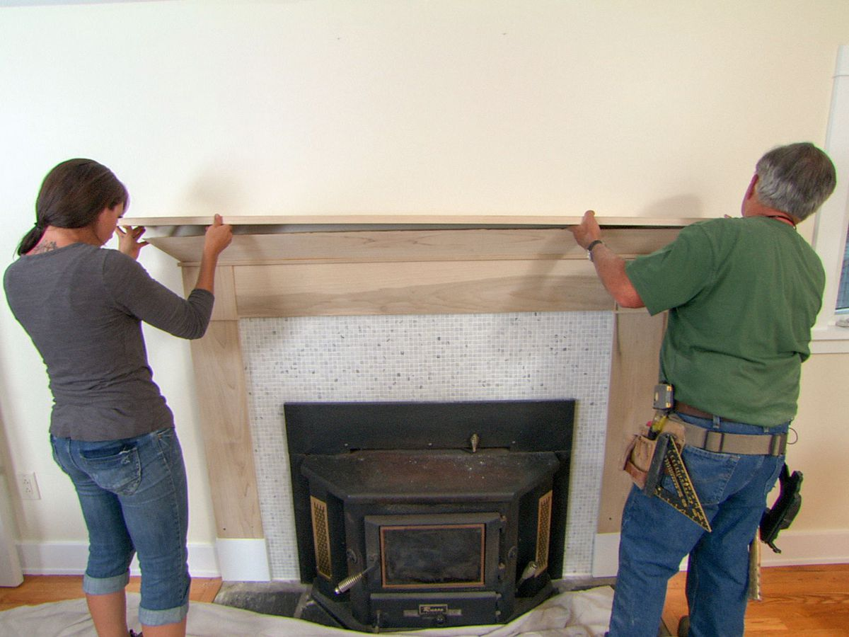 Installing a mantle of a fireplace
