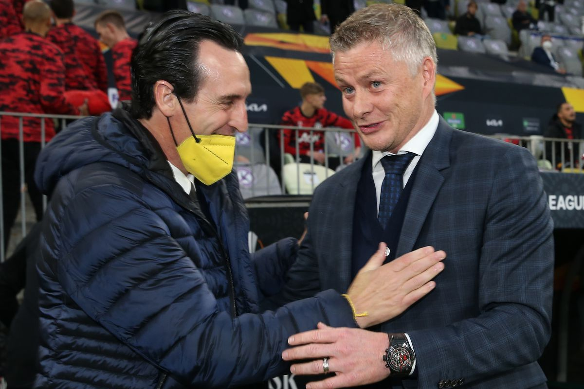 Unai Emery & Ole Gunnar Solskjaer - Villarreal CF v Manchester United - UEFA Champions League