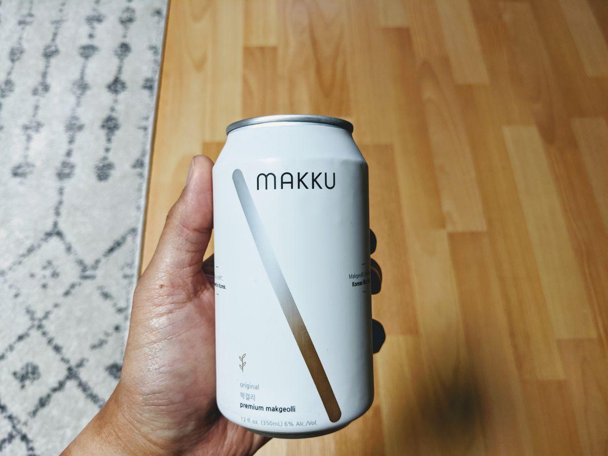 Makku makgeoli, a cloudy Korean rice beer.