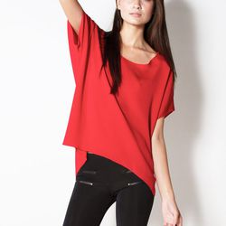 """The perfect tee for printed denim. <a href=""""http://www.lnaclothing.com/SILK-CIRCLE-TEE-at-PID23603-SW1232.aspx"""">Silk circle tee</a>, $51.75 (was $165.00)"""