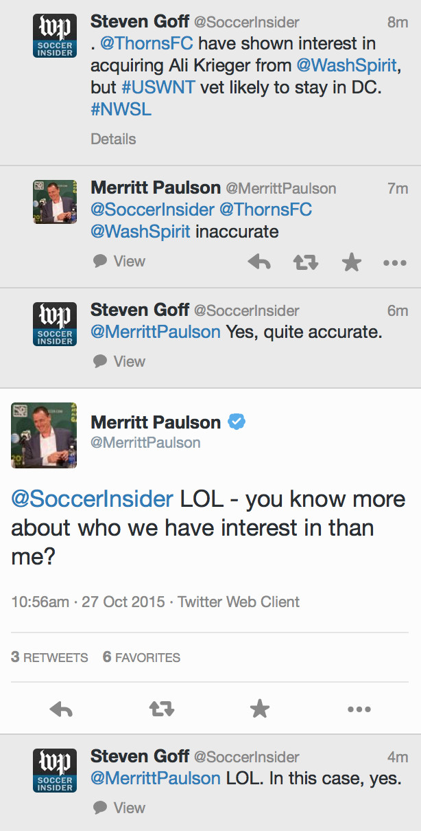 Merritt Paulson and Steve Goff talk Ali Krieger