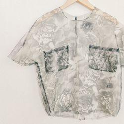 "No. 6 'Alec' pocket shirt in black organza rose, <a href=""http://no6store.com/no6-collection/tops/no-6-alec-pocket-shirt-in-black-organza-rose.html"">$310</a>"