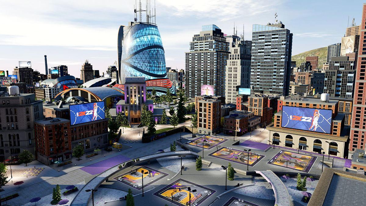 A look at the NBA 2K22 City in the MyCareer mode.