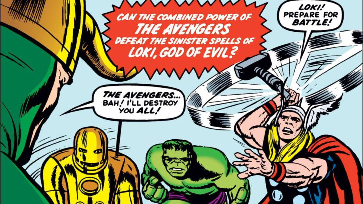 From the cover of Avengers #1, Marvel Comics (1963).