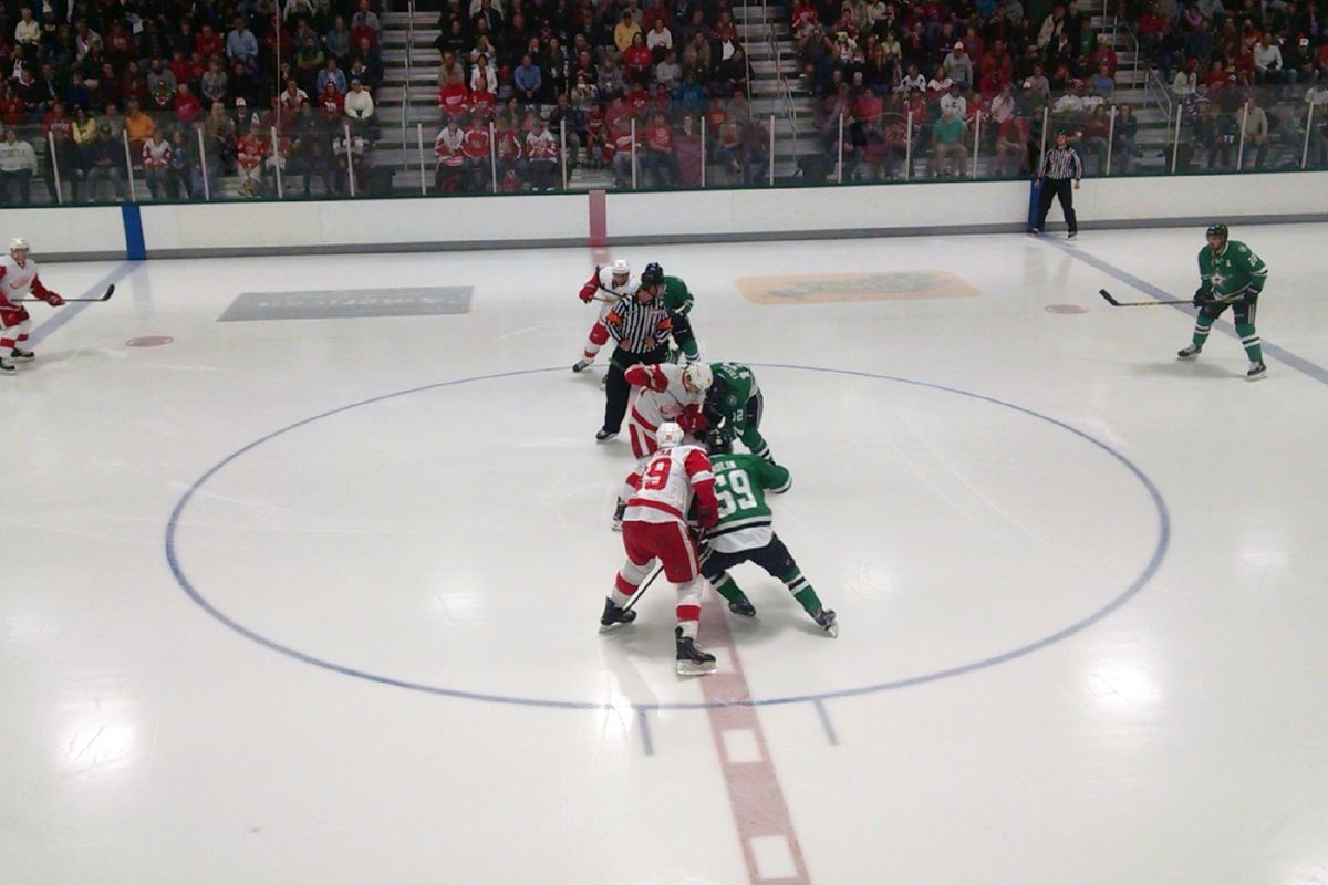 Red Wings Faceoff Against the Dallas Stars in the 2015 NHL Prospect Tournament