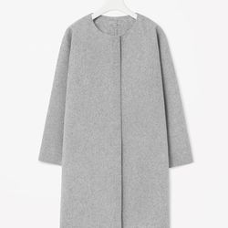 """COS curved seam wool coat, <a href=""""http://www.cosstores.com/us/Shop/Women/Sale/Coats_Jackets/Curved_seam_wool_coat/16268821-15266174.1#c-15133319"""">$138</a> (was $275)"""