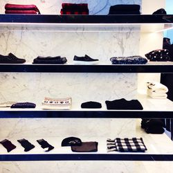 Perfectly merchandised fall accessories and outerwear essentials.
