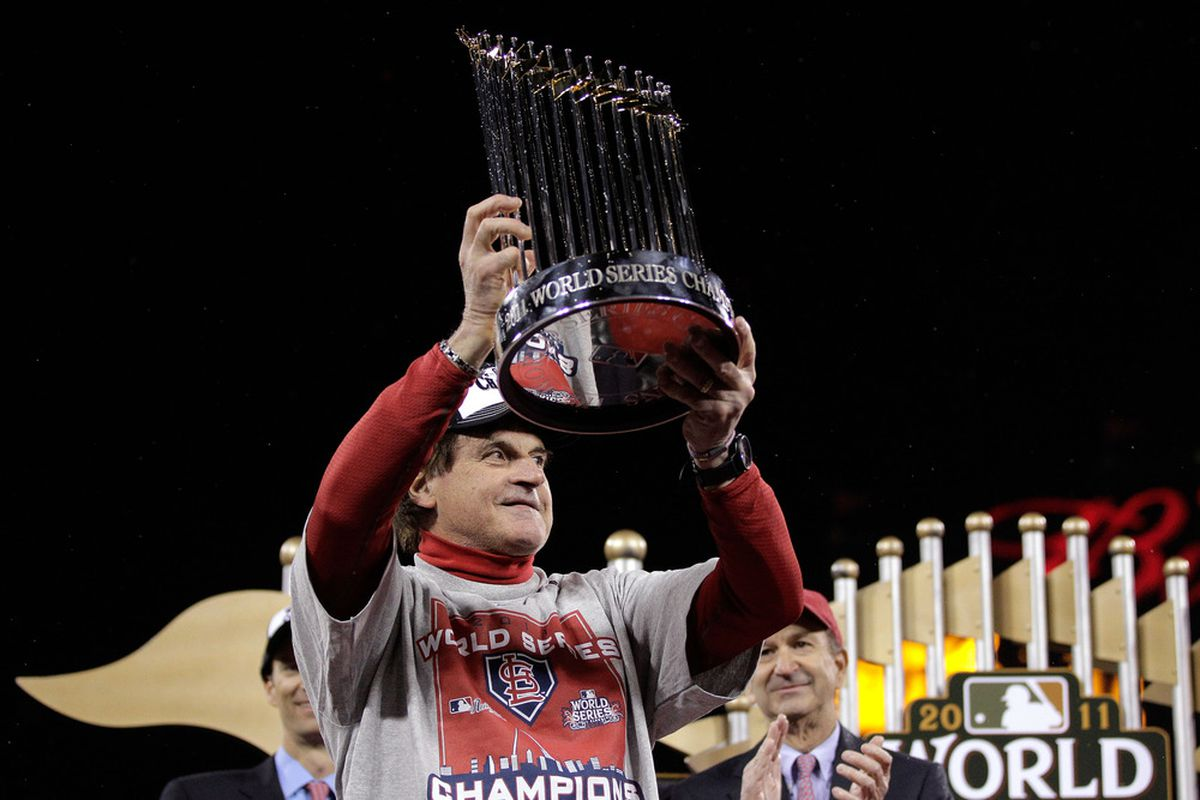 Congratulations to the greatest manager of my time... Tony LaRussa on winning another Championship. (Photo by Charlie Riedle-Pool/Getty Images)