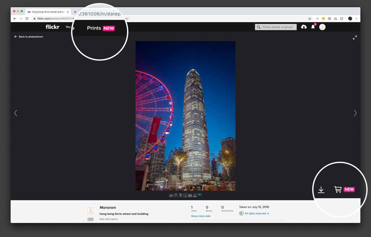 Flickr now sells photo prints directly through its website