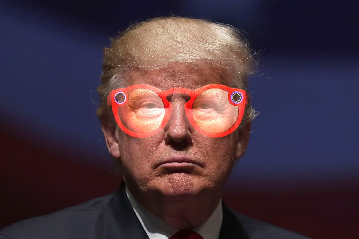 Donald Trump Snapchat spectacles