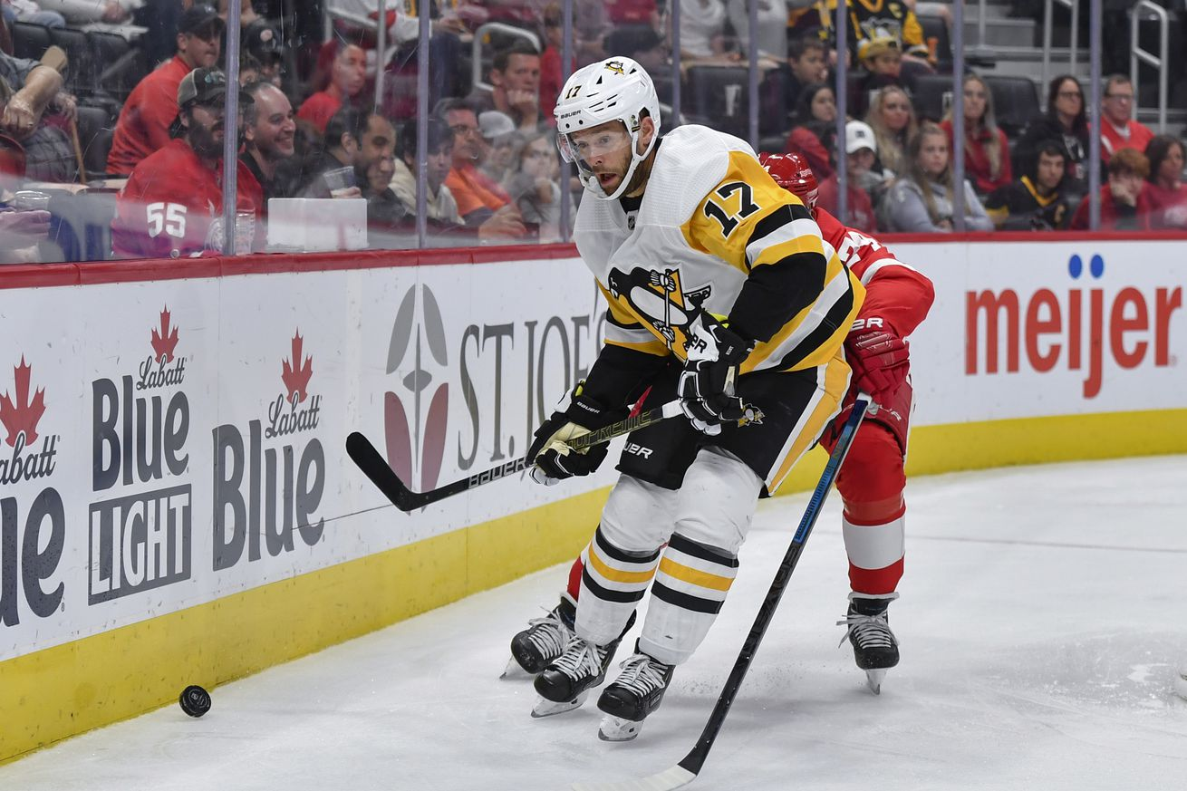 Game 30 Preview: Pittsburgh Penguins @ Detroit Red Wings; 12/7/2019: lines, how to watch
