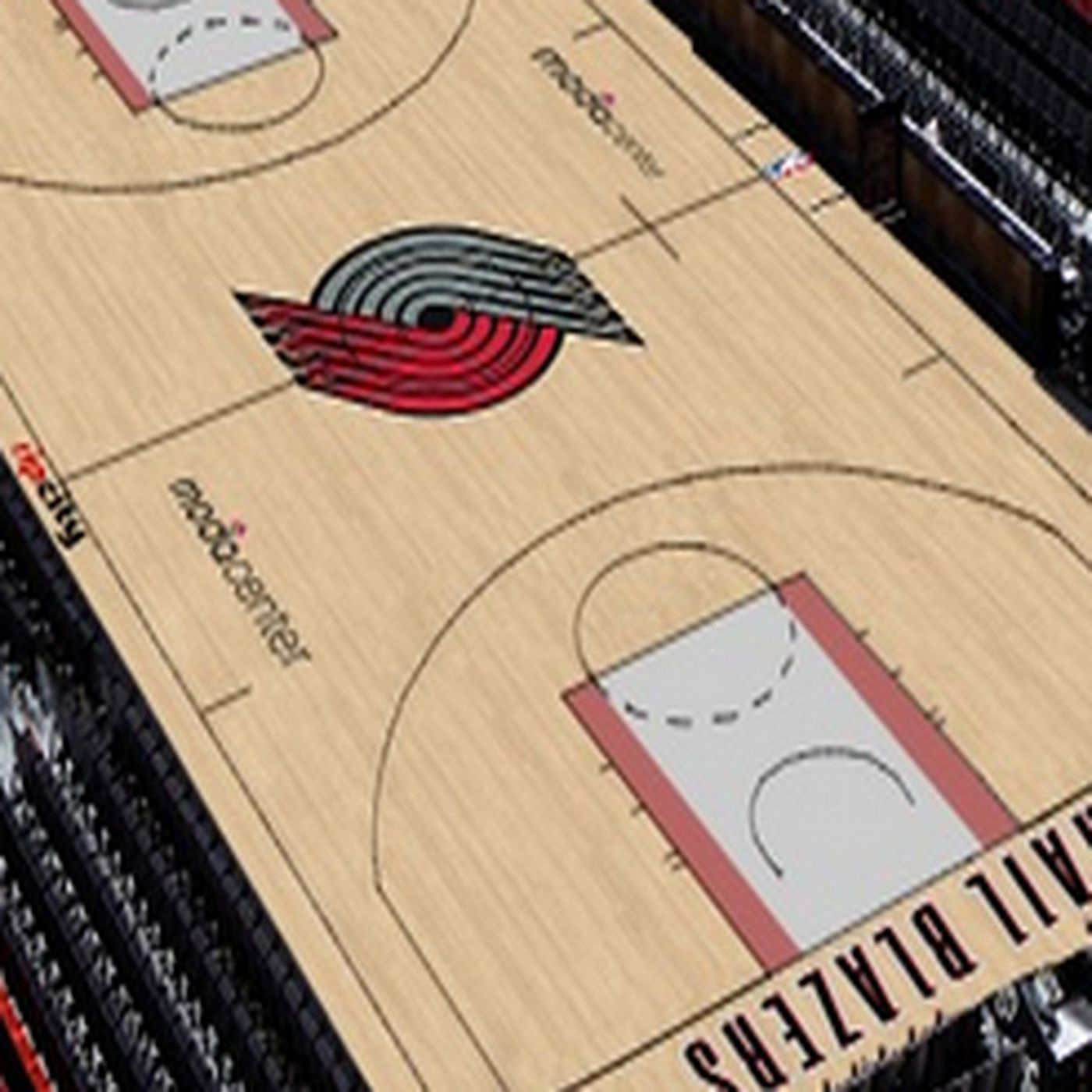 Blazers Hold Fan Contest To Create New Look Moda Center Court Blazer s Edge