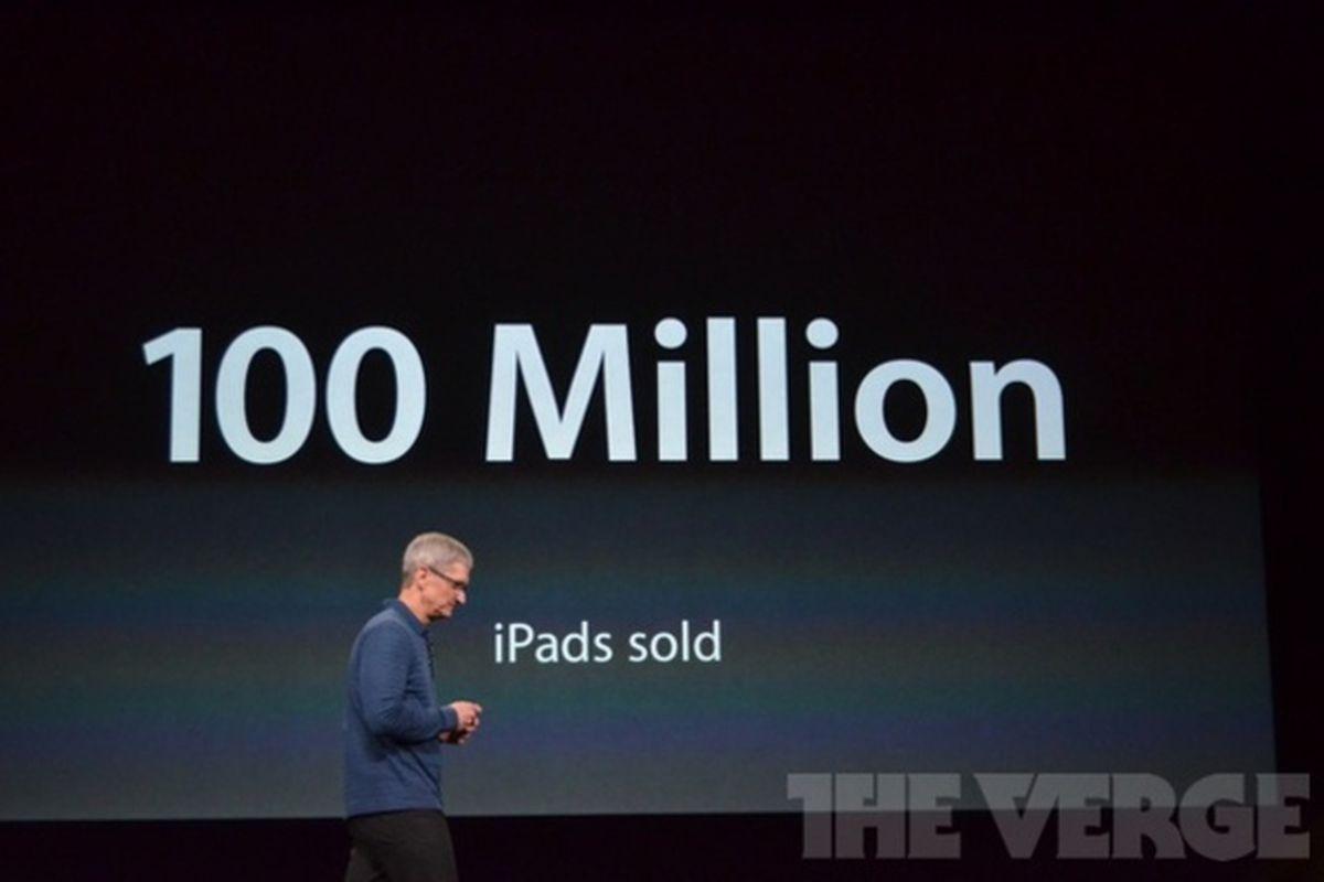 ipad 100 million