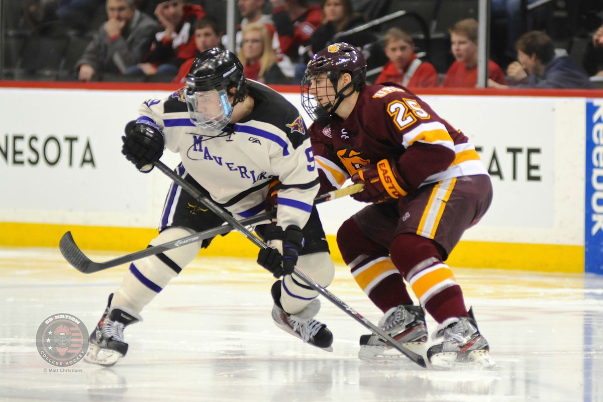Minnesota State senior Bryce Gervais was picked to be WCHA Presason Player of the Year by the Media.