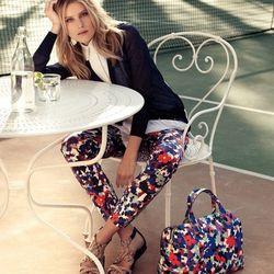 "<a href=""http://www.toryburch.com/Girl-Meets-Boy-Floral-Camo/floralcamo,default,pd.html?start=6&cgid=newarrivals-lookbook"">Jared cardigan, Angelique silk blouse, Tribley pant, Fleur flat sandal, Robinson printed satchel</a>"