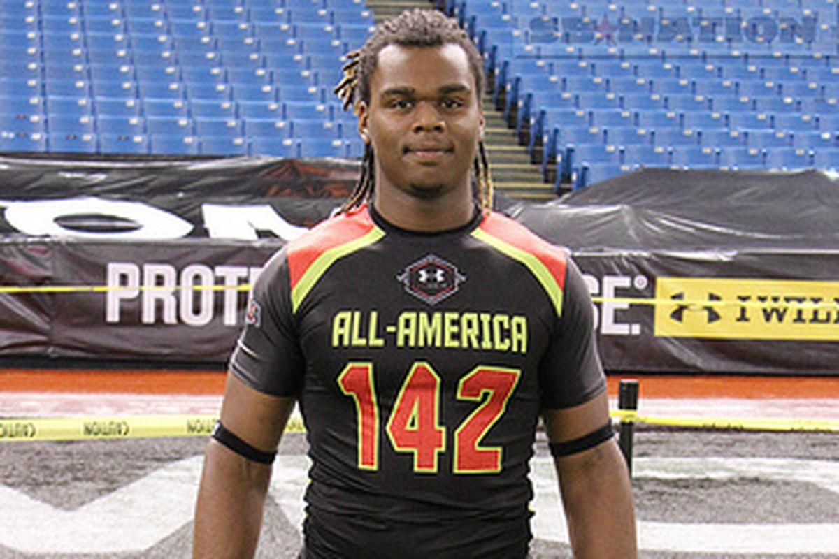 Keyon Brown, defensive end prospect from Wauchula, FL.