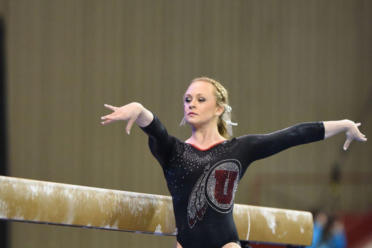 Maddy Stover beam NCAA Championship