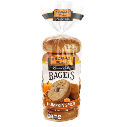 Thomas Pumpkin Spice bagels