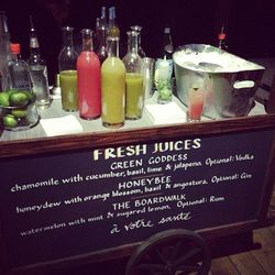Inventive, fresh juice served in both alcoholic and non-alcoholic form.