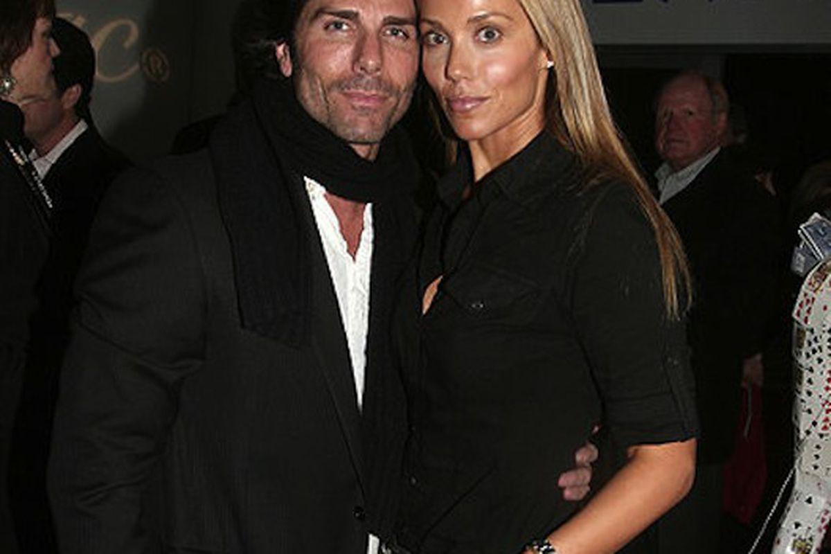 Greg Lauren with his wife Jessie Spano, um, Elizabeth Berkley