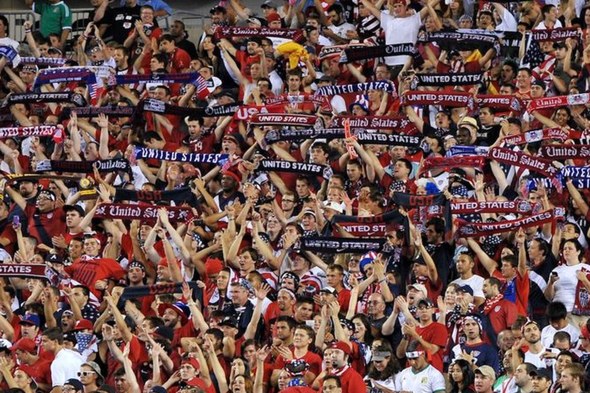 NINE THOUSAND American Outlaws tonight in Columbus. Nine thousand out of 20 thousand. Hopefully, zero bags of urine thrown, though.