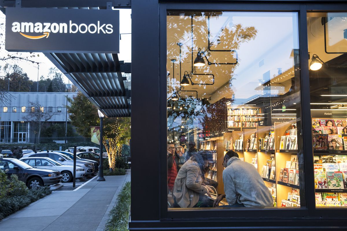 The newly opened Amazon Books store is pictured on November 4, 2015, in Seattle, Washington. The online retailer opened its first brick-and-mortar book store on November 3, 2015.