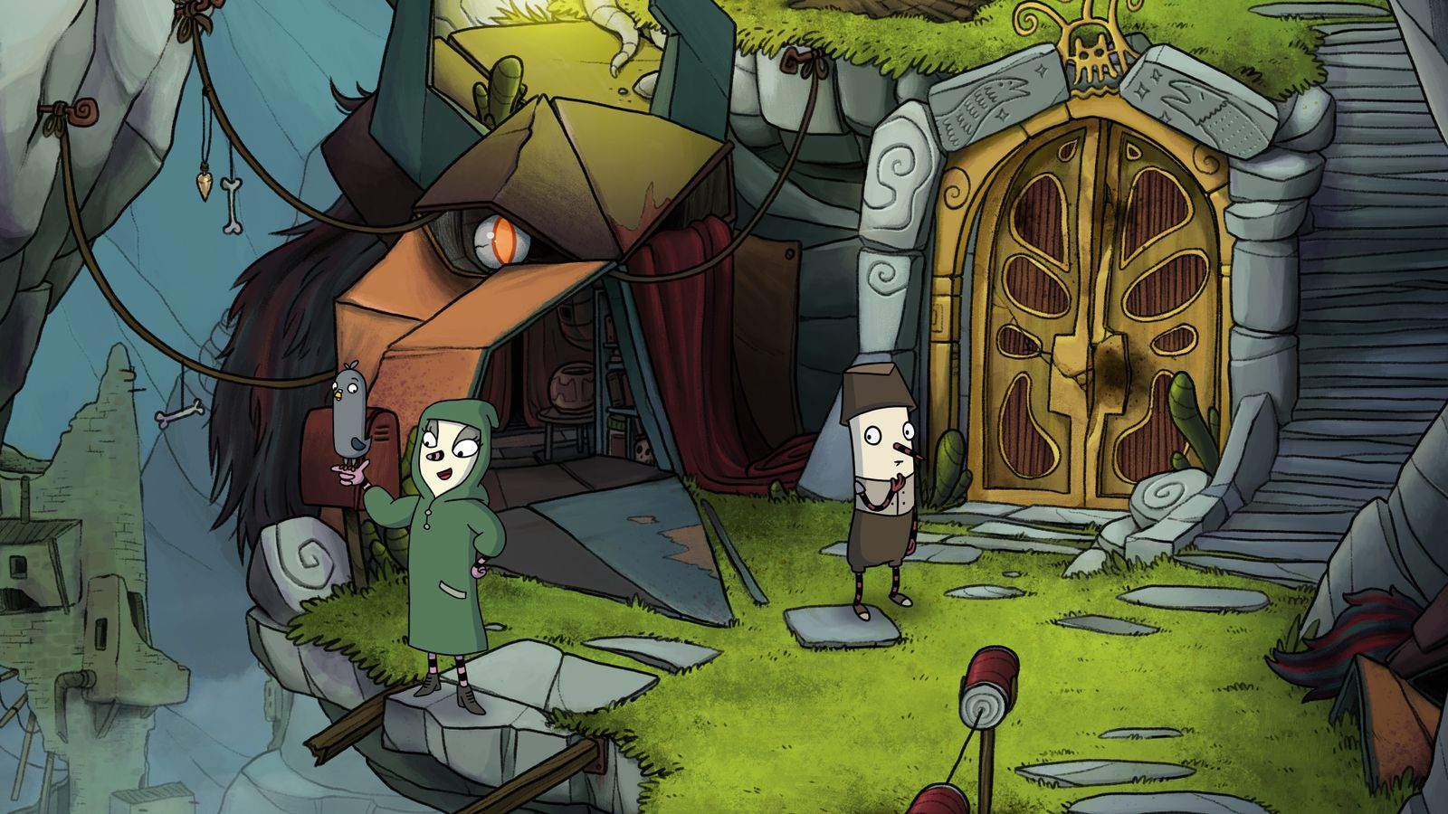 A point-and-click adventure comes to consoles, with the help of a pigeon