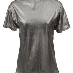 This silver-foiled t-shirt was $120, and is now $49. It's available in green, purple, copper, and turquoise—what do you think, gift idea?
