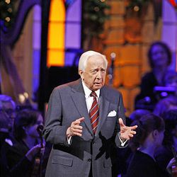 Author David McCullough performs Friday at the annual Christmas concert at the Conference Center.