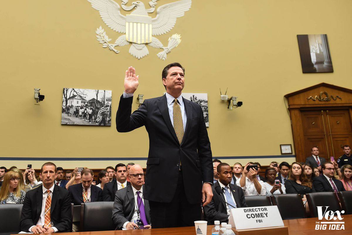 FBI Director James Comey, preparing to explain to Congress why he decided not to charge Hillary Clinton over her use of a private email server.