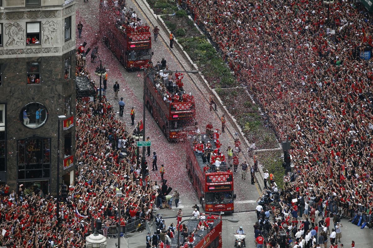 Blackhawks Victory Parade in Chicago