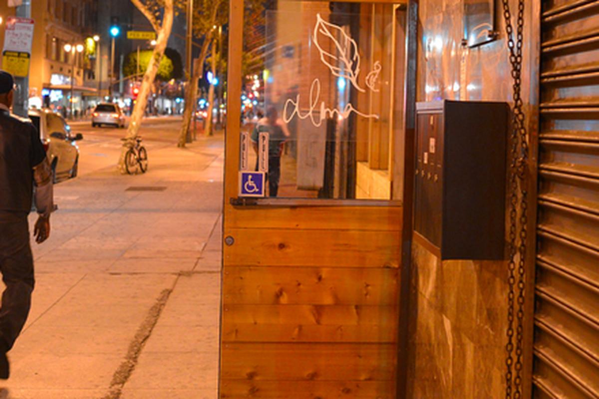 Outside Alma, Downtown.