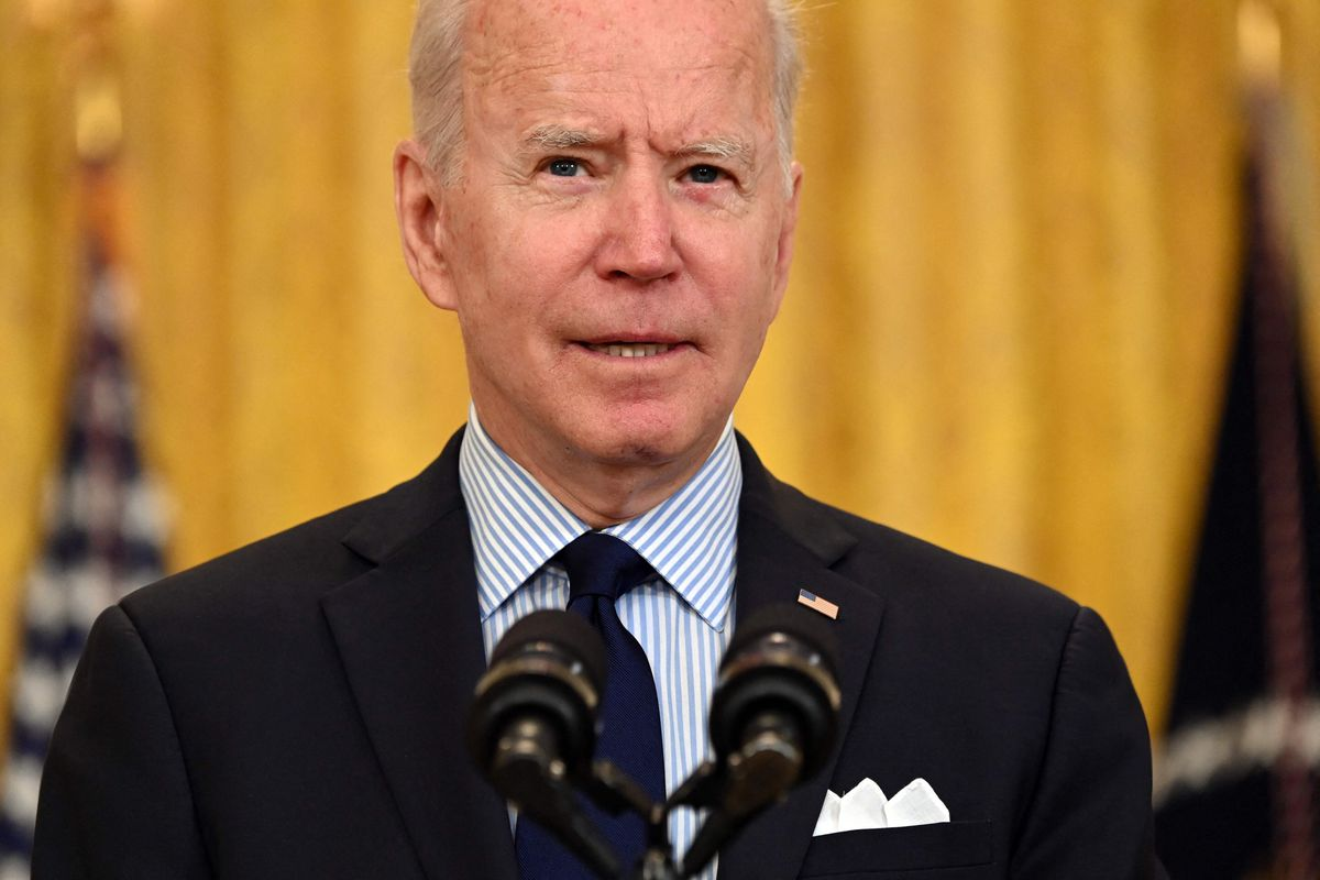 US President Joe Biden speaks about the April jobs report in the East Room of the White House in Washington, DC, on May 7, 2021.