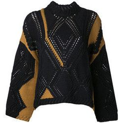 """3.1 Phillip Lim cable knit intarsia sweater, <a href=""""http://www.kirnazabete.com/tops/sweaters/cable-knit-intarsia-sweater"""">$595</a>"""