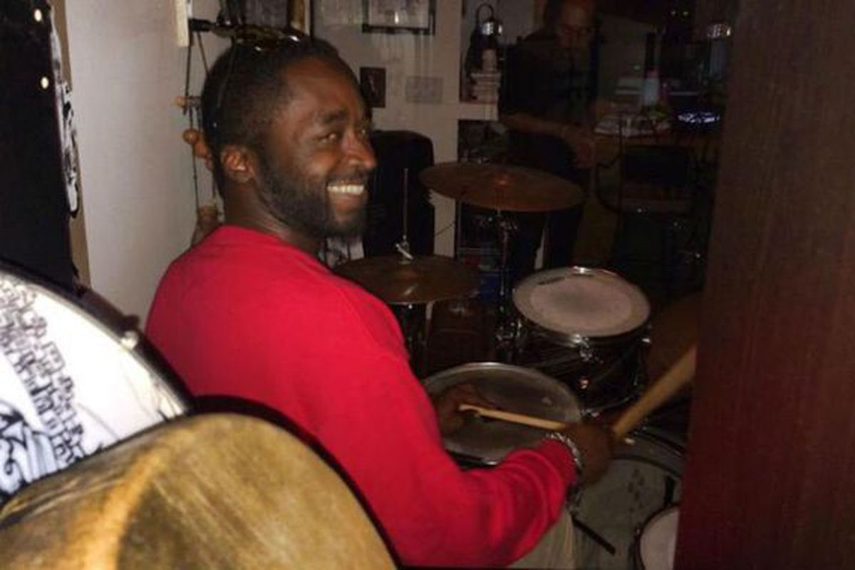 Corey Jones, 31-year-old victim of a police shooting, plays the drums.