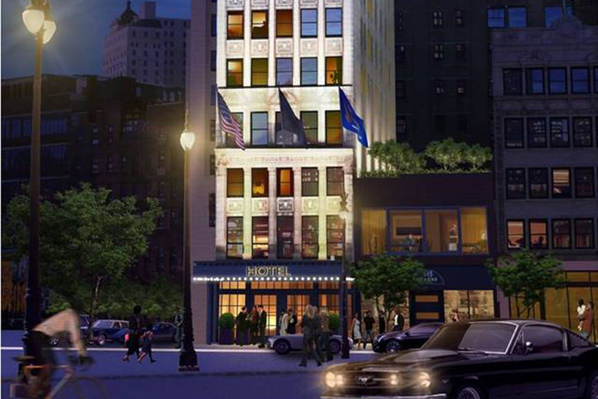 Wurlitzer boutique hotel rendering.
