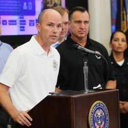 Lt. Gov. Spencer Cox discusses Operation Rio Grande during a press conference at the state Capitol in Salt Lake City on Monday, Aug. 14, 2017.