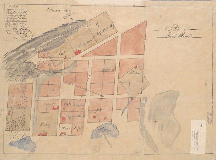 1839 Jean Voiget plan of Yerba Buena.
