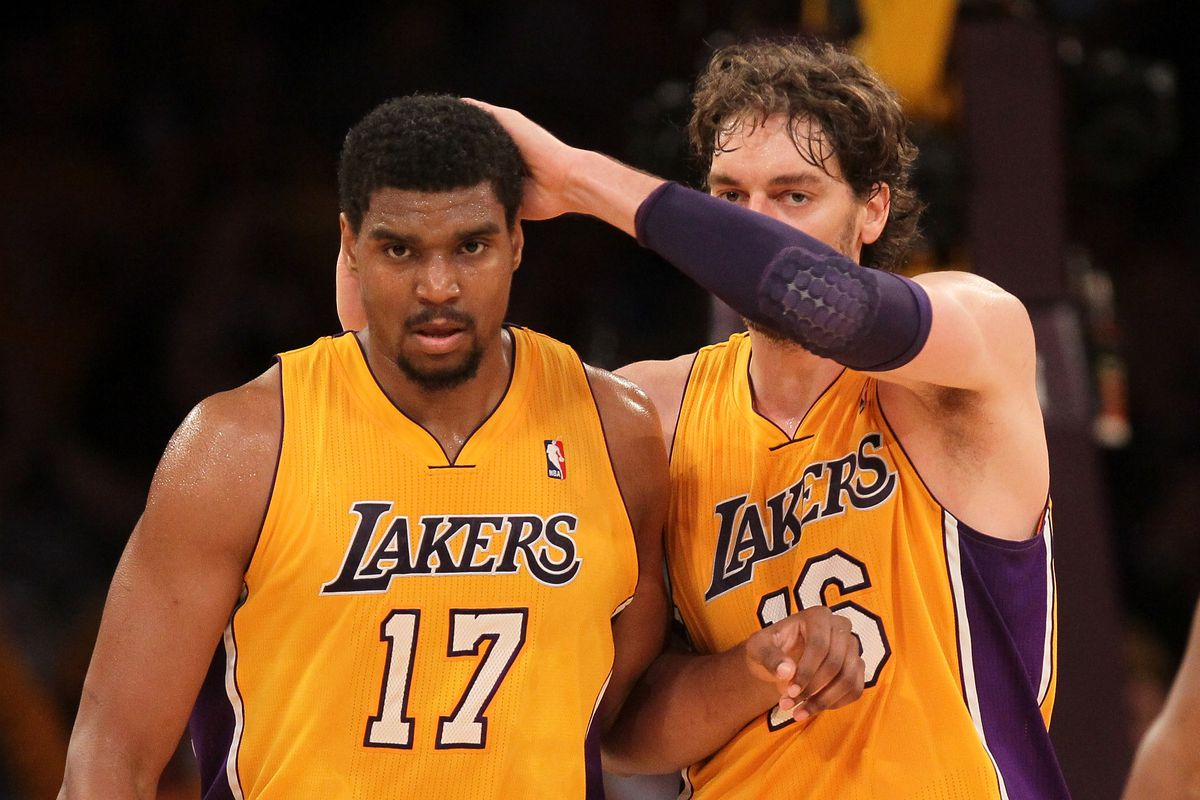 76758264552 Andrew Bynum worked out at Lakers practice facility, not official workout  for team