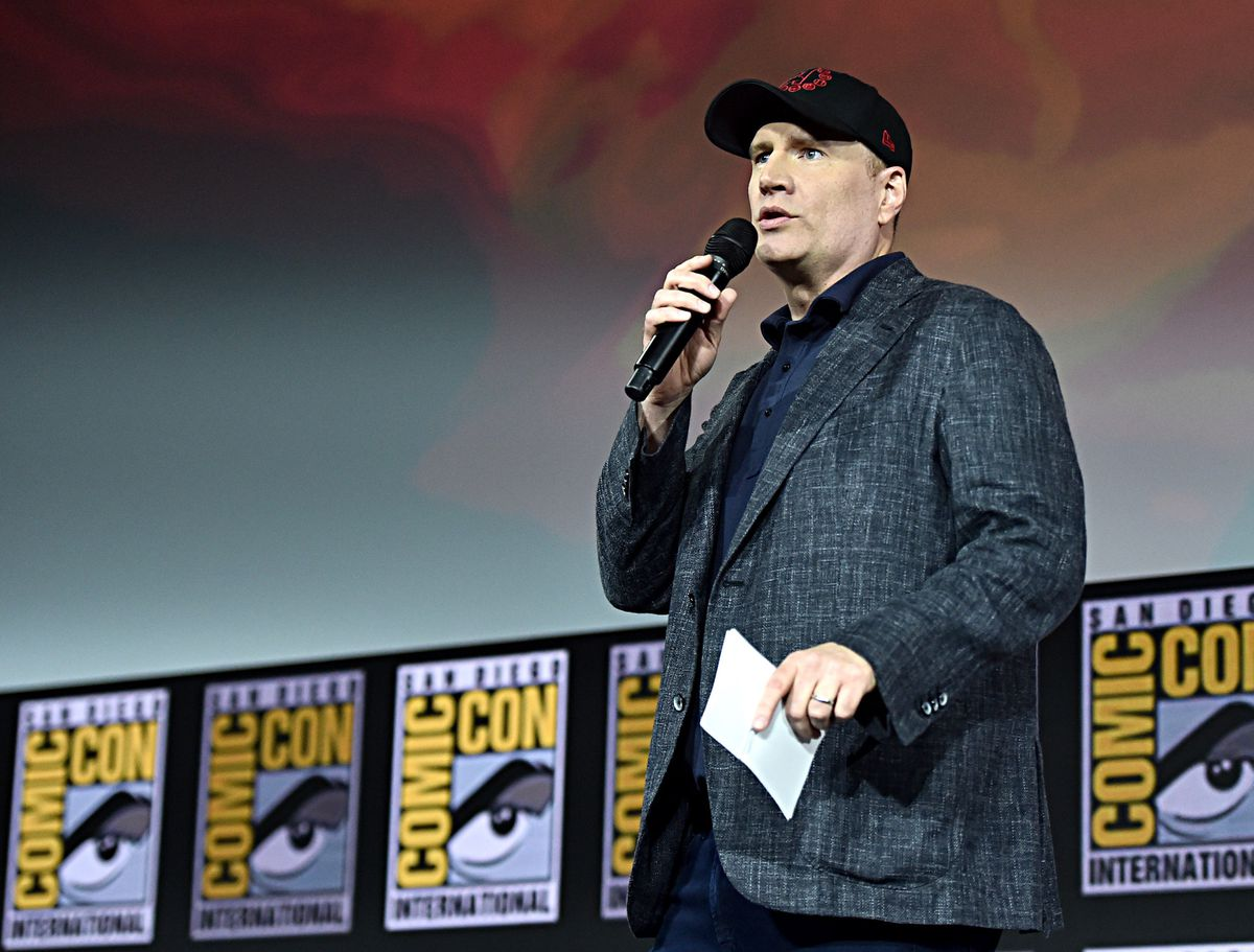Kevin Feige at SDCC 2019 Marvel Hall H panel