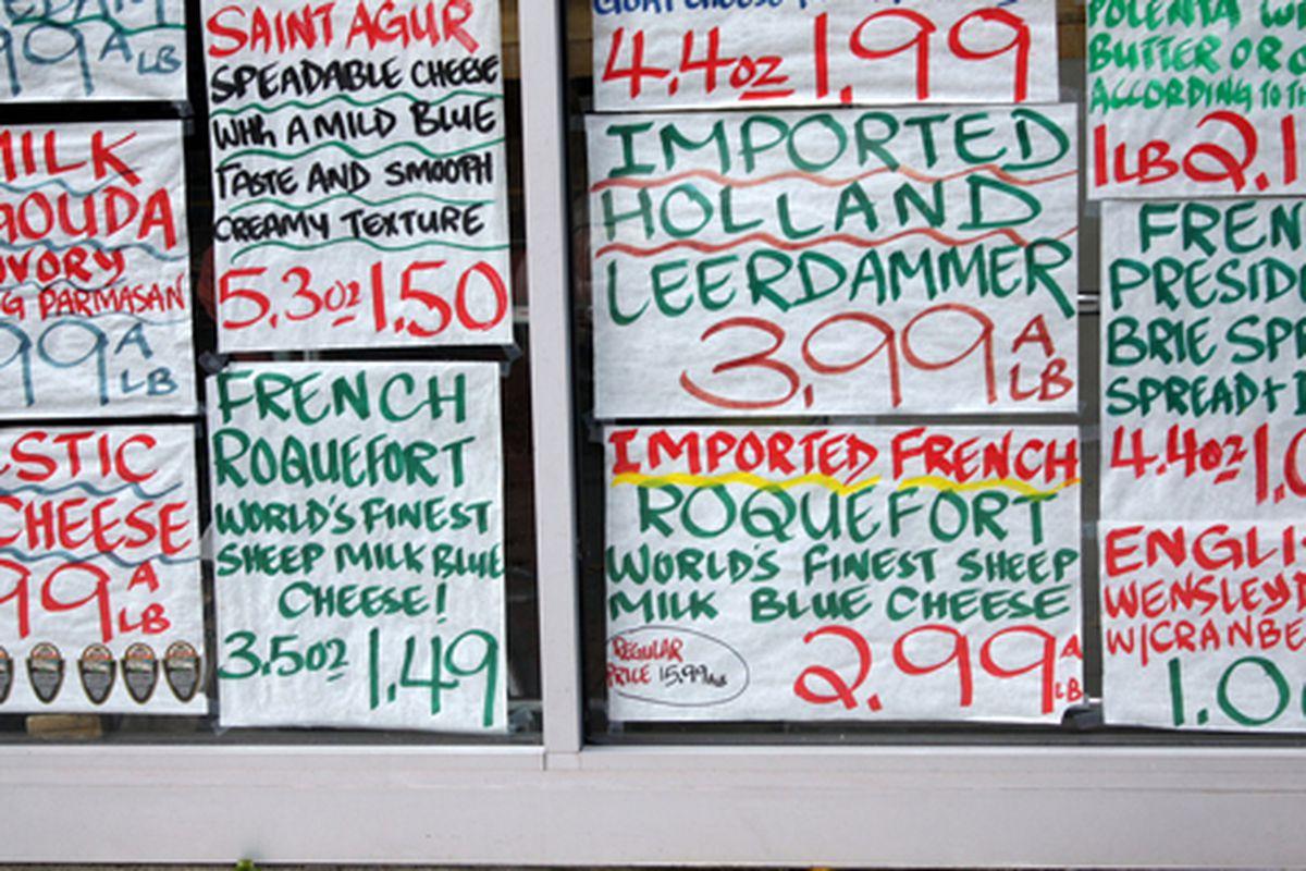 "East Village cheese shop via <a href=""http://www.flickr.com/photos/j0annie/5088001945/in/pool-312691@N20/"">jwannie</a>/Racked Flickr Pool"