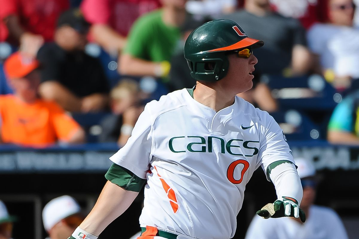 Zack Collin's two home runs helped Miami get the victory