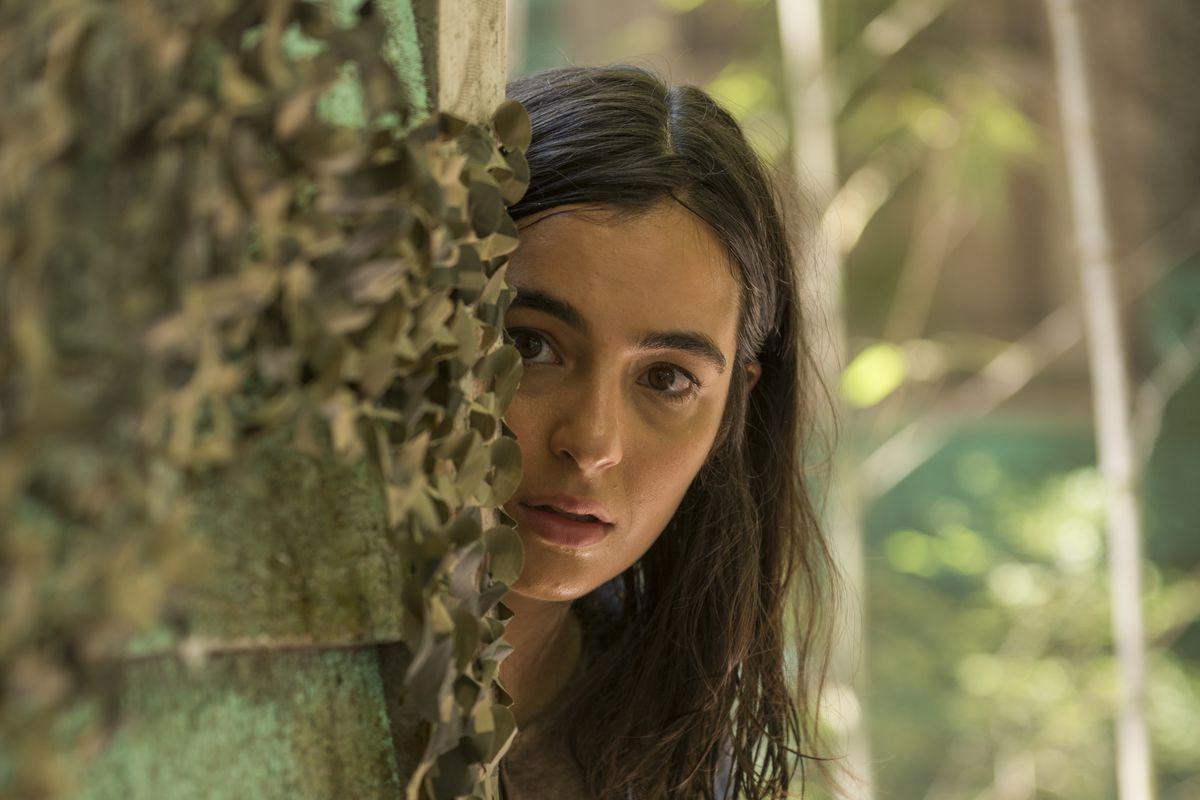 "Tara scouts a new band of survivors in Season 7, Episode 6, ""Swear"""