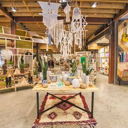 These amazing hanging creations were custom-made for the store by a local vendor.