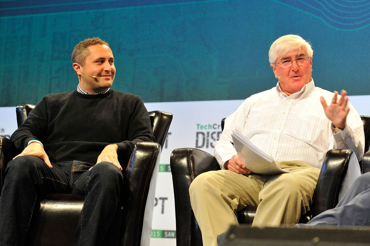 Topher Conway, left, and his father Ron Conway