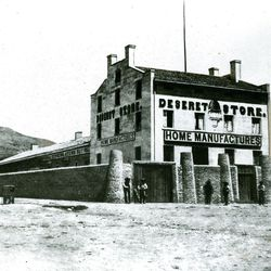 The original site of the Hotel Utah was occupied by the Deseret Store and later the Deseret News Publishing Company. The Spanish wall was 12-feet high. This history photo ran in the paper on  July 13, 1974.