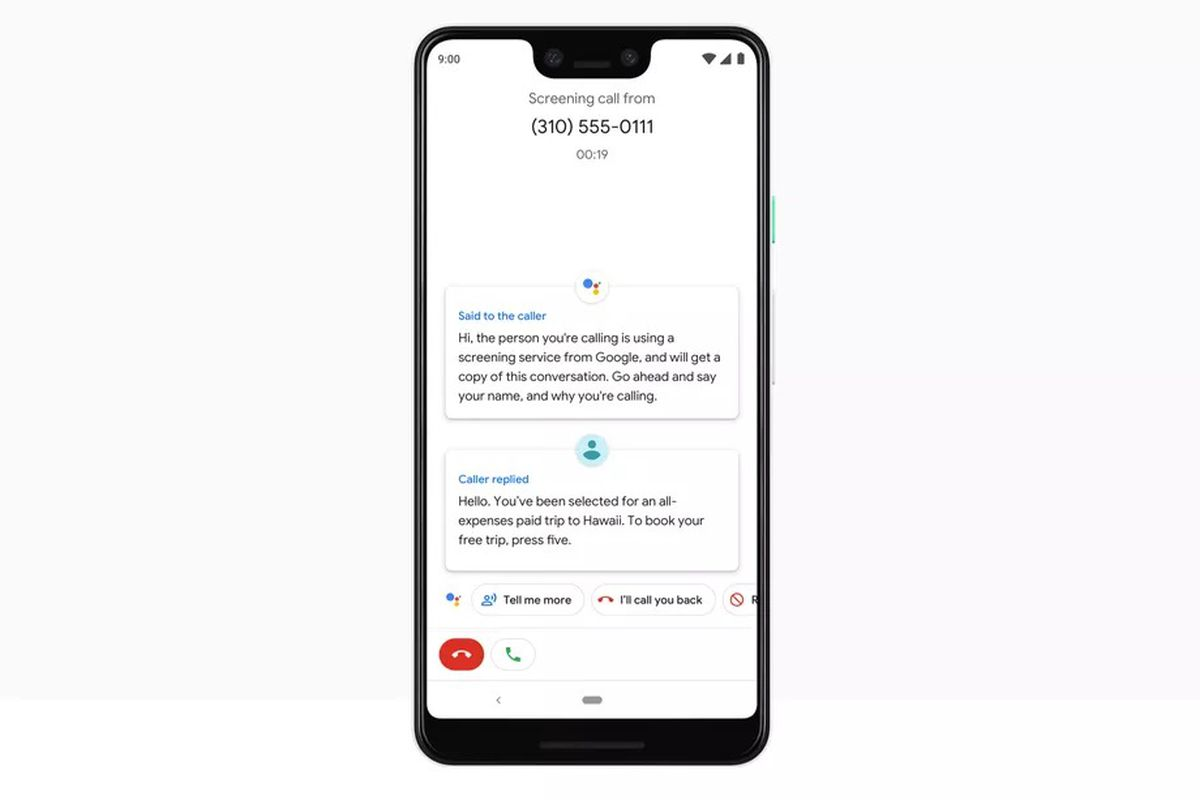 Google Assistant call screening is now rolling out for the
