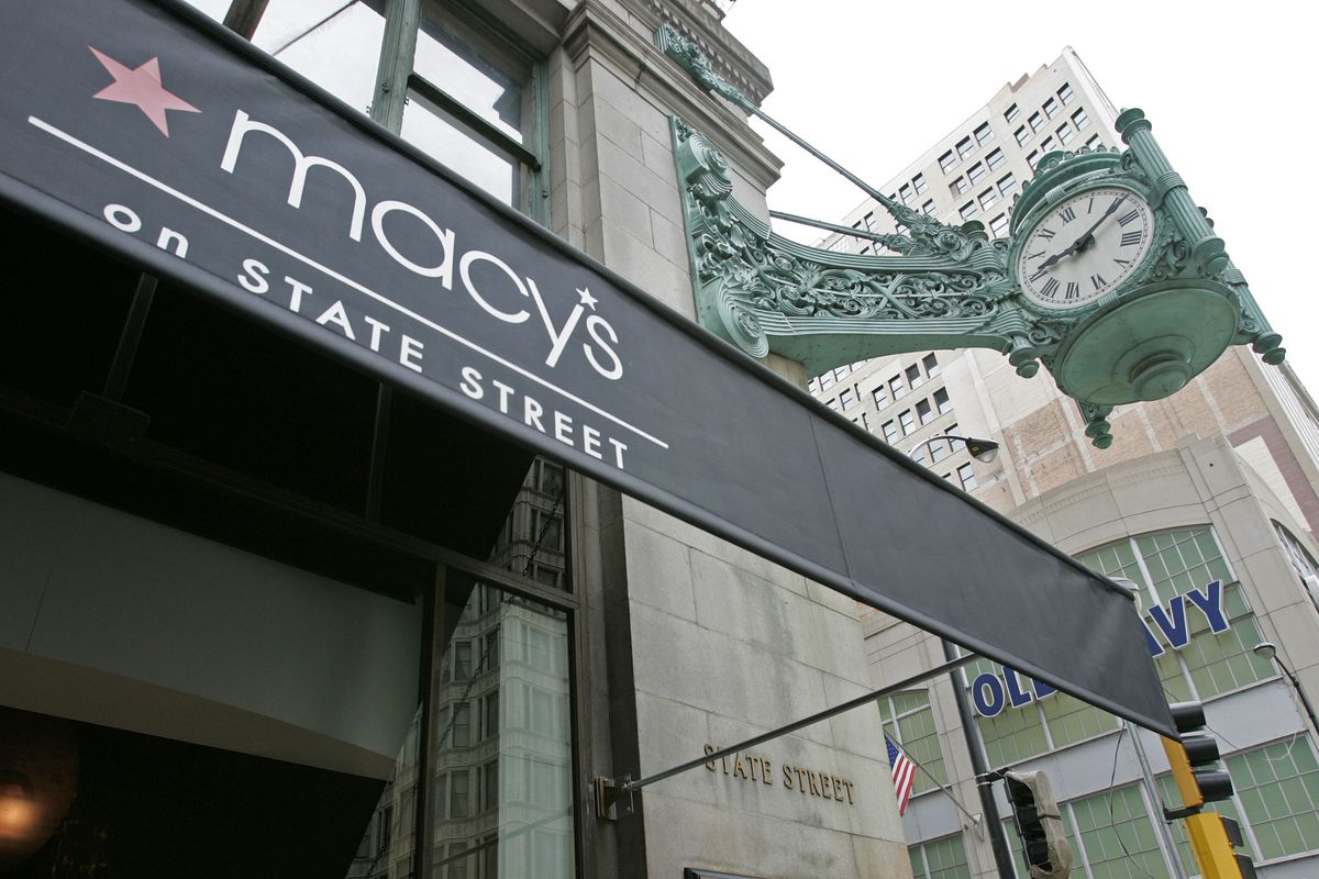 Floors eight through 14 of Macy's State Street building, largely unused before, are being renovated to attract office users.