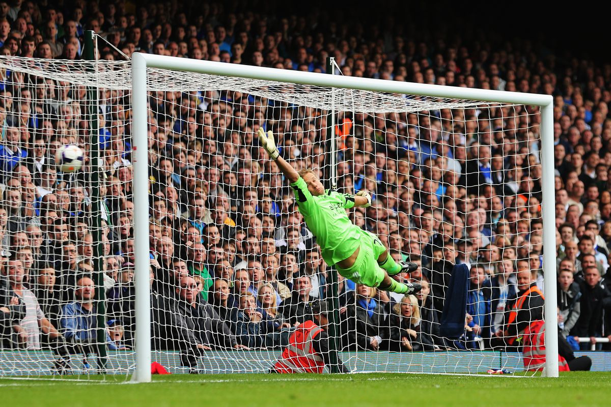 Baines scoring one of his two free-kick goals against the Hammers last season.